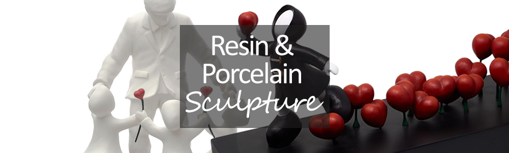 Porcelain and Resin Sculpture
